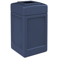Commercial Zone 732147 PolyTec 42 Gallon Dark Blue Open Top Waste Container