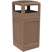 Commercial Zone 73296399 PolyTec 42 Gallon Nuthatch Waste Container with Dome Lid