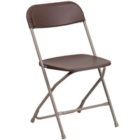 Flash Furniture LE-L-3-BROWN-GG Brown Folding Chair
