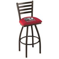 Holland Bar Stool L01430AL-Ele University of Alabama Swivel Stool with Ladder Back and Padded Seat