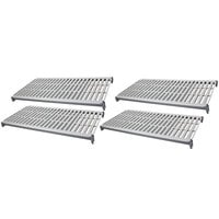 Cambro CBSK1842V4580 Camshelving Basics Plus 18 inch x 42 inch Shelf Kit with 4 Vented Shelves