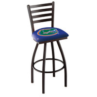 Holland Bar Stool L01430FlorUn University of Florida Swivel Stool with Ladder Back and Padded Seat