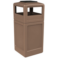 Commercial Zone 73396399 PolyTec 42 Gallon Nuthatch Waste Container with Ashtray Dome Lid