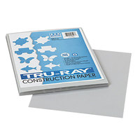 Pacon 103027 Tru-Ray 9 inch x 12 inch Gray Pack of 76# Construction Paper - 50/Sheets