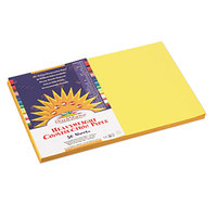 SunWorks 8407 12 inch x 18 inch Yellow Pack of 58# Construction Paper - 50/Sheets