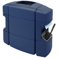 Commercial Zone 758747 Islander Waste 'N Wipe 40 Gallon Dark Blue Open Top Waste Container with 2 Paper Towel Dispensers and 2 Windshield Wash Stations