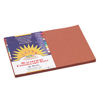 SunWorks 6707 12 inch x 18 inch Brown Pack of Construction Paper - 50 Sheets