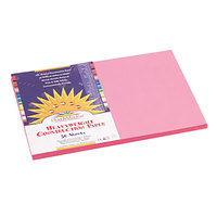 SunWorks 7007 12 inch x 18 inch Pink Pack of 58# Construction Paper - 50/Sheets