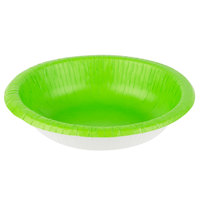 Creative Converting 173123 20 oz. Fresh Lime Green Paper Bowl - 20/Pack