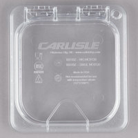 Carlisle 10318Z07 StorPlus EZ Access 1/6 Size Clear Polycarbonate Hinged Lid with Handle