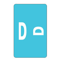 Smead 67174 1 inch x 1 5/8 inch Color-Coded Light Blue D Second Letter Name Filing Label - 100/Pack