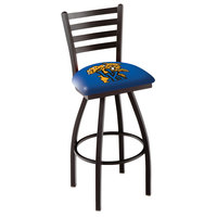 Holland Bar Stool L01430UKYCat University of Kentucky Swivel Stool with Ladder Back and Padded Seat