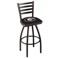 Holland Bar Stool L01430GA-G University of Georgia Swivel Stool with Ladder Back and Padded Seat