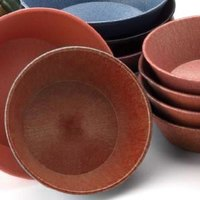 HS Inc. HS1012 8 inch x 2 1/4 inch Paprika Polyethylene Round Basket - 24/Case