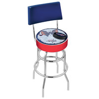 Holland Bar Stool L7C430WshCap-D2 Washington Capitals Double Ring Swivel Stool with Padded Back and Seat