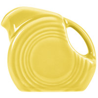 Homer Laughlin 475320 Fiesta Sunflower 5 oz. Mini Disc Creamer Pitcher - 4/Case