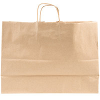 Duro Tote Natural Kraft Paper Ping Bag With Handles 16 Inch X 6 12
