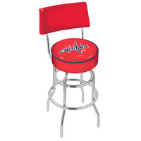 Holland Bar Stool L7C430WshCap Washington Capitals Double Ring Swivel Stool with Padded Back and Seat
