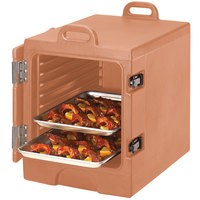 Cambro 1318MTC157 Camcarrier Coffee Beige Insulated Tray / Sheet Pan Carrier - Front Load, Holds Half Size Pans