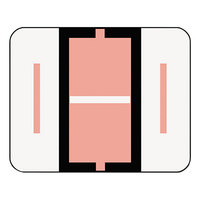 Smead 67079 1 inch x 1 1/4 inch Color-Coded Pink I Bar-Style End Tab Label - 500/Roll