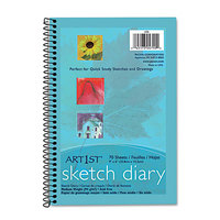 Pacon 4790 Art1st 6 inch x 9 inch White Medium Weight Smooth 60# Stock Paper Sketch Diary