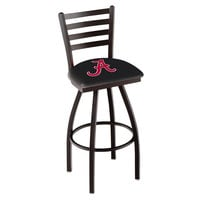 Holland Bar Stool L01430AL-A University of Alabama Swivel Stool with Ladder Back and Padded Seat