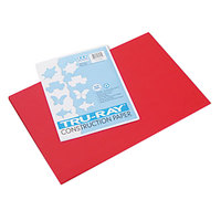 Pacon 103432 Tru-Ray 12 inch x 18 inch Festive Red Pack of 76# Construction Paper - 50/Sheets