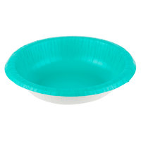 Creative Converting 324784 20 oz. Teal Lagoon Paper Bowl - 20/Pack