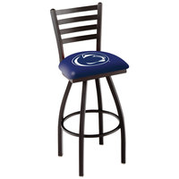 Holland Bar Stool L01430PennSt Penn State University Swivel Stool with Ladder Back and Padded Seat