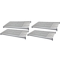 Cambro CBSK1848V4580 Camshelving Basics Plus 18 inch x 48 inch Shelf Kit with 4 Vented Shelves