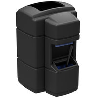 Commercial Zone 758901 Islander Waste 'N Wipe 40 Gallon Black Open Top Waste Container with Paper Towel Dispenser and Windshield Wash Station