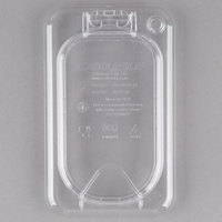 Carlisle 10338Z07 StorPlus EZ Access 1/9 Size Clear Polycarbonate Hinged Lid with Handle
