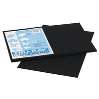 Pacon 103061 Tru-Ray 12 inch x 18 inch Black Pack of 76# Construction Paper - 50/Sheets