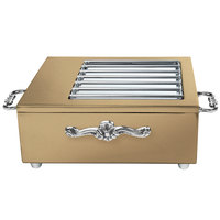 Eastern Tabletop 3265GRZ 18 inch x 11 inch x 6 1/4 inch Bronze Coated Stainless Steel Butane Stove Cover Up with Grates