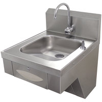 Advance Tabco 7-PS-41 Hands Free Hand Sink with Paper Towel Dispenser - ADA Compliant