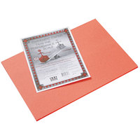 Pacon 103618 Riverside 12 inch x 18 inch Orange Pack of 76# Construction Paper - 50/Sheets