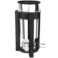 Eastern Tabletop 3101P2MB P2 2 Qt. Stainless Steel Soup Marmite with Black Accents and Fuel Holder