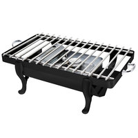 Eastern Tabletop 3257GMB Park Avenue 28 inch x 11 1/2 inch Black Coated Stainless Steel Grill Stand with Removable Grill Top
