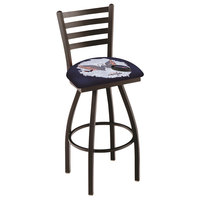 Holland Bar Stool L01430WshCap-D2 Washington Capitals Swivel Stool with Ladder Back and Padded Seat