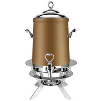 Eastern Tabletop 3203LRZ Luminous 3 Gallon Bronze Coated Stainless Steel Coffee Urn with Fuel Holder
