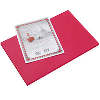 Pacon 103614 Riverside 12 inch x 18 inch Red Pack of 76# Construction Paper - 50/Sheets