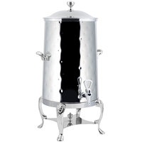 Bon Chef 48003-1C-H-E Lion 3 Gallon Insulated Hammered Stainless Steel Electric Coffee Chafer Urn with Chrome Trim