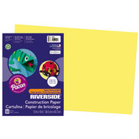 Pacon 103616 Riverside 12 inch x 18 inch Yellow Pack of 76# Construction Paper - 50/Sheets