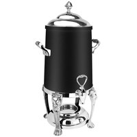 Eastern Tabletop 3203LHMB Lion Head 3 Gallon Black Coated Stainless Steel Coffee Urn with Fuel Holder