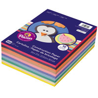 SunWorks 6555 9 inch x 12 inch Assorted Color Ream of 45# Construction Paper - 500/Sheets