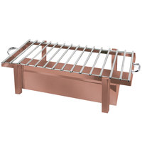Eastern Tabletop 3249GCP P2 28 inch x 11 1/2 inch Copper Coated Stainless Steel Grill Stand with Removable Grill Top