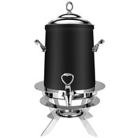 Eastern Tabletop 3203LMB Luminous 3 Gallon Black Coated Stainless Steel Coffee Urn with Fuel Holder