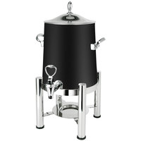 Eastern Tabletop 3123MB Pillar'd 3 Gallon Black Coated Stainless Steel Coffee Urn with Fuel Holder