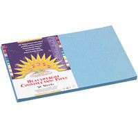 SunWorks 7607 12 inch x 18 inch Sky Blue Pack of 58# Construction Paper - 50/Sheets