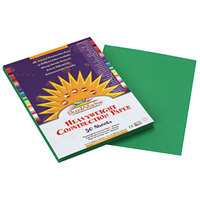 SunWorks 8003 9 inch x 12 inch Holiday Green Pack of 58# Construction Paper - 50/Sheets